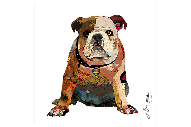Home Accents Bull Dog Collage Art by Ashley HomeStore, Multi