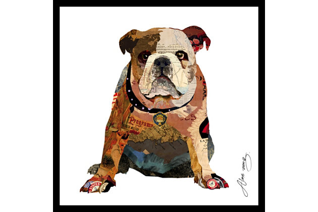 Home Accents Bull Dog Collage Art, , large