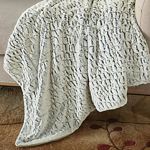 "Nourison Mina Victory Fur 50"" x 60"" Throw Blanket, , large"