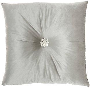 "Nourison Inspire Me! 18"" x 18"" Throw Pillow, Gray, large"