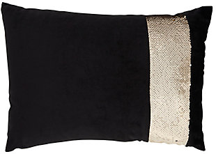 "Nourison Inspire Me! Home 14"" x 20"" Throw Pillow, Black, large"