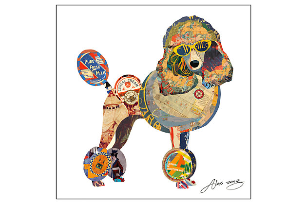 Home Accents Poodle Collage Art by Ashley HomeStore, Multi