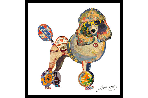 Home Accents Poodle Collage Art, , large