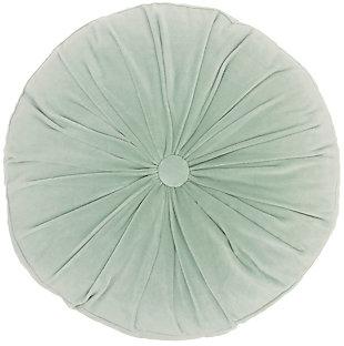 """Nourison Mina Victory Sofia 16"""" X 16"""" Round Throw Pillow, Celadon, large"""