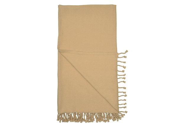 "Nourison Nourison Throw 50"" X 60"" Throw Blanket, Beige, large"