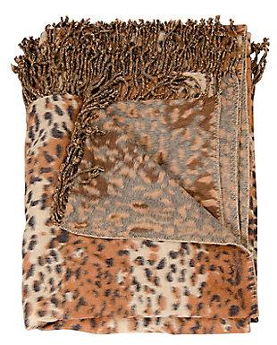 "Nourison Mina Victory Beige Loop Shag 50"" x 70"" Throw Blanket, , large"