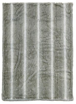 "Nourison Mina Victory Beige Loop Shag 50"" x 70"" Throw Blanket, Silver Gray, rollover"