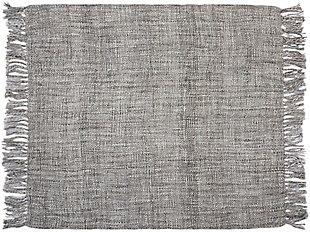 "Nourison Mina Victory Beige Loop Shag 50"" x 70"" Throw Blanket, Gray, large"