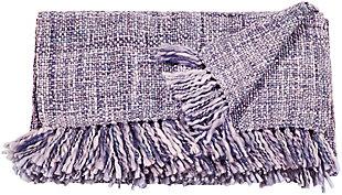 "Nourison Mina Victory Beige Loop Shag 50"" x 70"" Throw Blanket, Lavender, large"