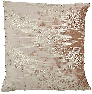 "Nourison Inspire Me! Home 20"" x 20"" Throw Pillow, Beige/Gold, large"