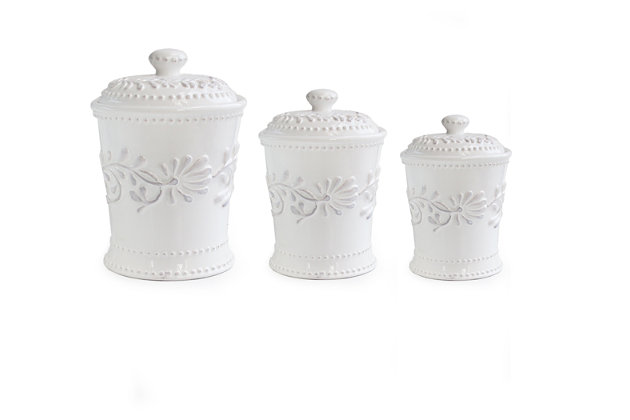 Home Accents Home Decor Set (3/CN) by Ashley HomeStore, White