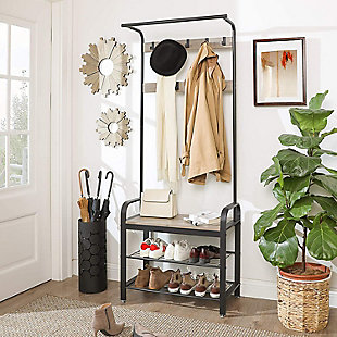 Hall Tree with Storage Shelf, , rollover