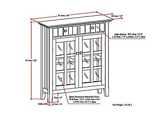 Connaught Black Storage Cabinet, Black, large