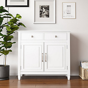 Connaught White Storage Cabinet, White, rollover