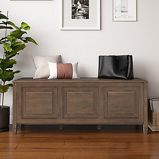 Connaught Brown Storage Bench Trunk, , rollover
