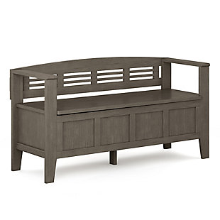 Adams Entryway Gray Storage Bench, , large