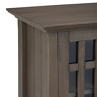 Bedford Rustic Gray Storage Media Cabinet, Gray, large