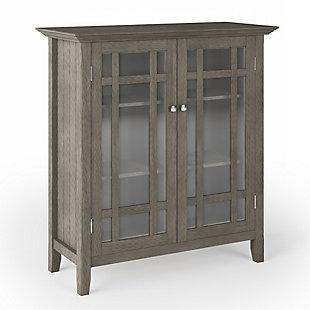 Bedford Rustic Gray Storage Cabinet, , large