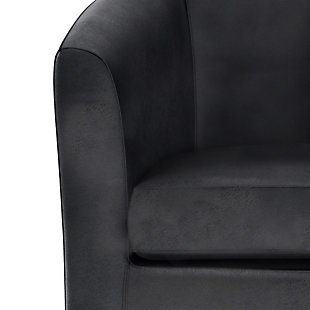 Austin Black Faux Air Leather Tub Chair, Black, large