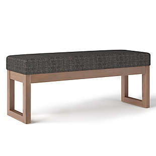 Milltown Ebony Large Ottoman Bench, Black/Gray, large