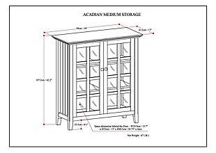 Acadian Rustic White Storage Cabinet, , large