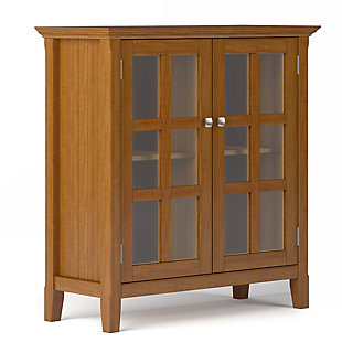 Acadian Rustic Golden Brown Storage Cabinet, , large
