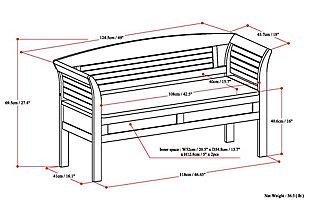 Arlington White Entryway Storage Bench, White, large