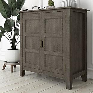 Burlington Gray Storage Cabinet, Gray, rollover