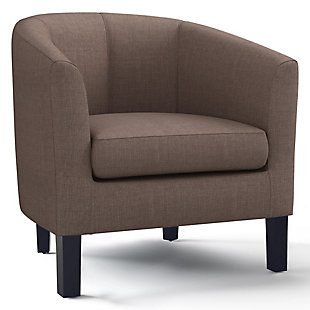 Austin Light Mocha Tub Chair, , large