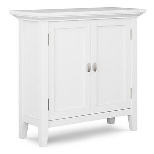 Redmond Rustic White Storage Cabinet, White, large
