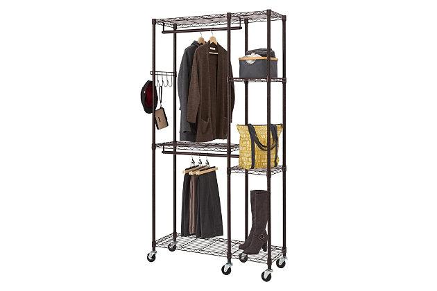 TRINITY 41x14x76 Mobile Closet Organizer, , large