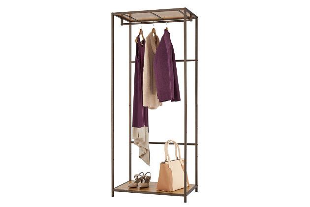 TRINITY 30x20x72 Bamboo Garment Rack, , large