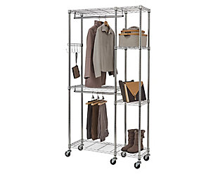 TRINITY EcoStorage™ 41x14x76 Mobile Closet Organizer, , large