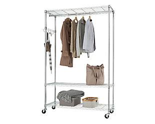 TRINITY EcoStorage™ 3-Tier 48x18x75.5 Rolling Garment Rack, , large