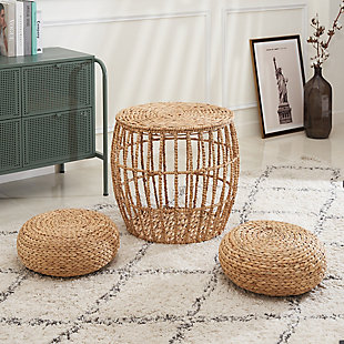 Amelia 3-Piece Hand-woven Seating Set, , rollover