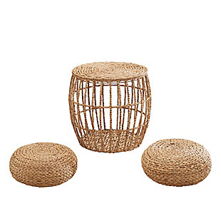 Amelia 3-Piece Hand-woven Seating Set, , large