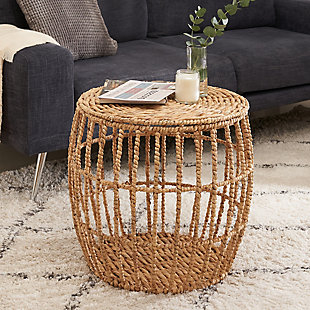 Amelia Round Hand-woven Table, , rollover