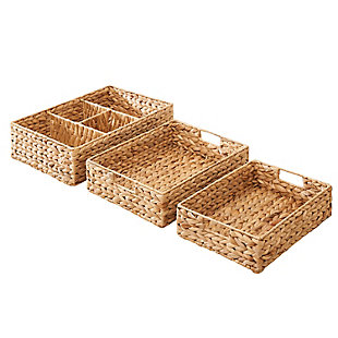Amelia 3-Piece Assorted Storage and Organizing Tray Set, , large