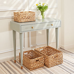 Aaliyah 3-Piece Stackable Organizing Basket Set, , large