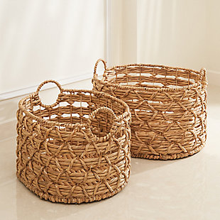 Camila 2-Piece Assorted Stackable Oval Basket Set (Size Medium and Large), , rollover