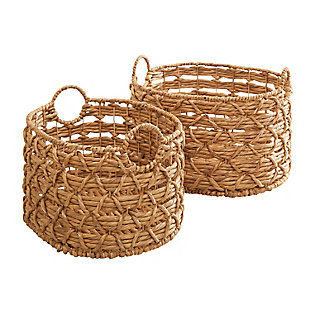 Camila 2-Piece Assorted Stackable Oval Basket Set (Size Medium and Large), , large