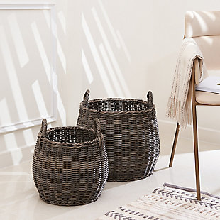Valeria 2-Piece Basket Set with Handles, , rollover