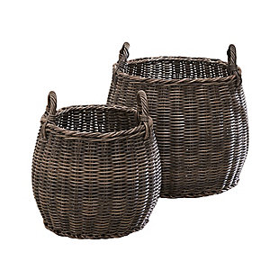 Valeria 2-Piece Basket Set with Handles, , large