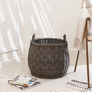 Valeria 15-Inch Resin Round Plant Pot Baskets with Handles (Size Medium), , rollover