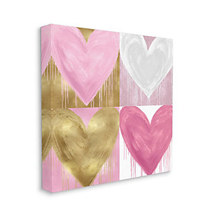 Kids Pink and Gold Glam Heart Canvas Wall Art by Lindsay Rodgers, 24 x 24, , large