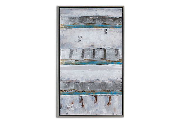 """Linera Abstract Hand Painted 28""""x48"""" Canvas, , large"""