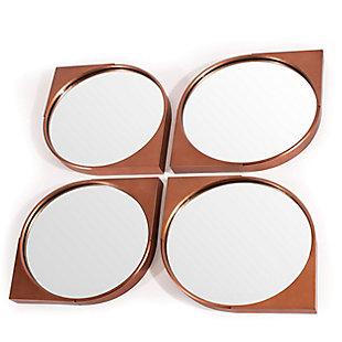 Elora Metal Wall Mirror (Set of 4), , large
