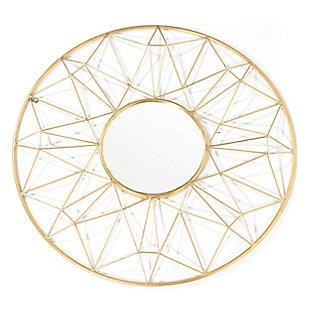 "Hana Metal 32""x32"" Wall Mirror, , large"