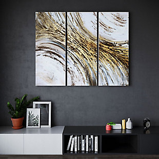 """Indroduction Hand Painted 60""""x40"""" Canvas (Set of 3), , rollover"""