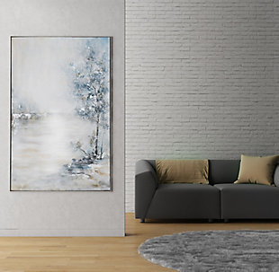 """Blue Meadow Hand Painted 40""""x62"""" Canvas, , rollover"""